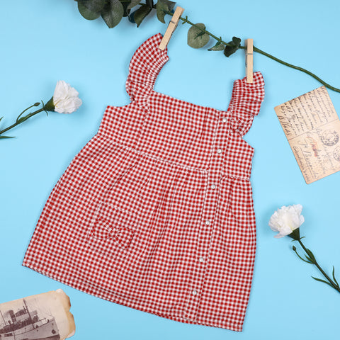 The Red Gingham Dress (3-24 Months)