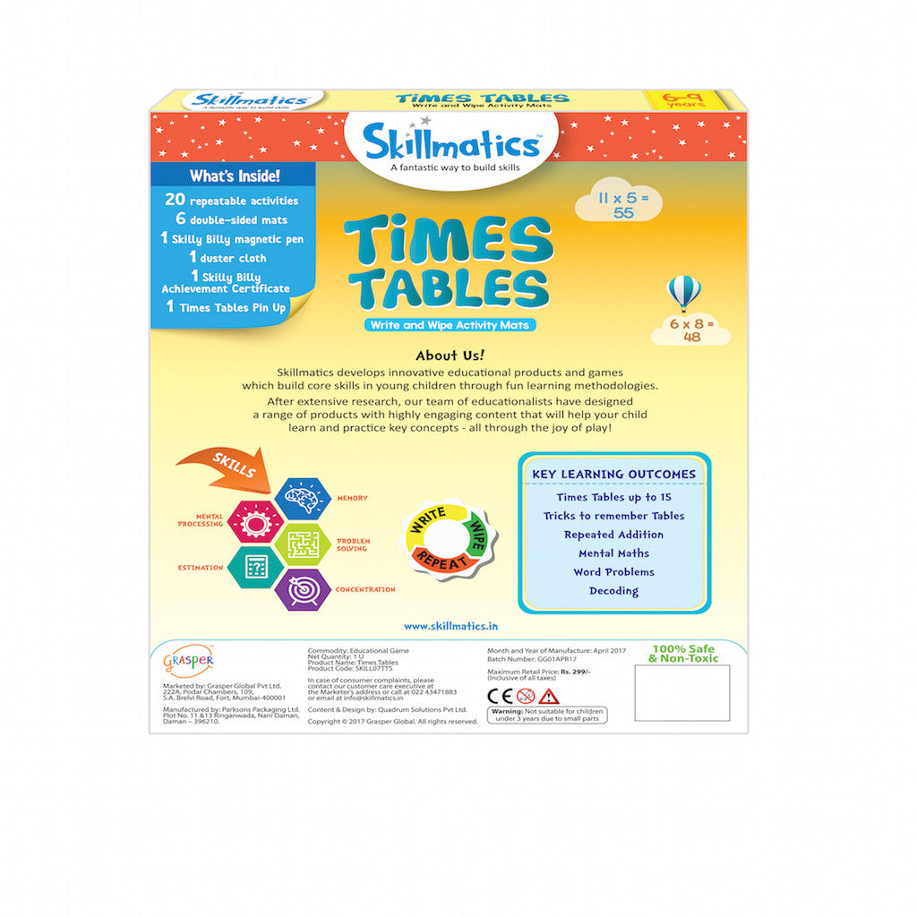 Skillmatics Educational Game - Times Tables