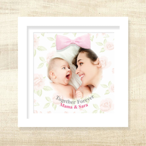 Together Forever Frame with 3D Bow - Pink
