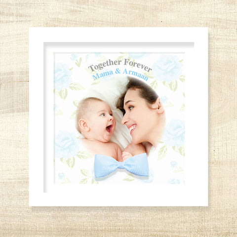Together Forever Frame with 3D Bow - Blue