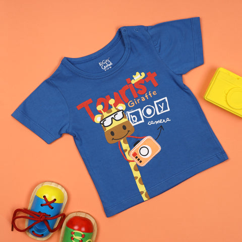 Tourist Giraffe Puffy T-shirt (3-24 Months)
