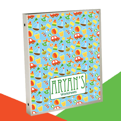 Personalised Binder<br/>Toy Theme