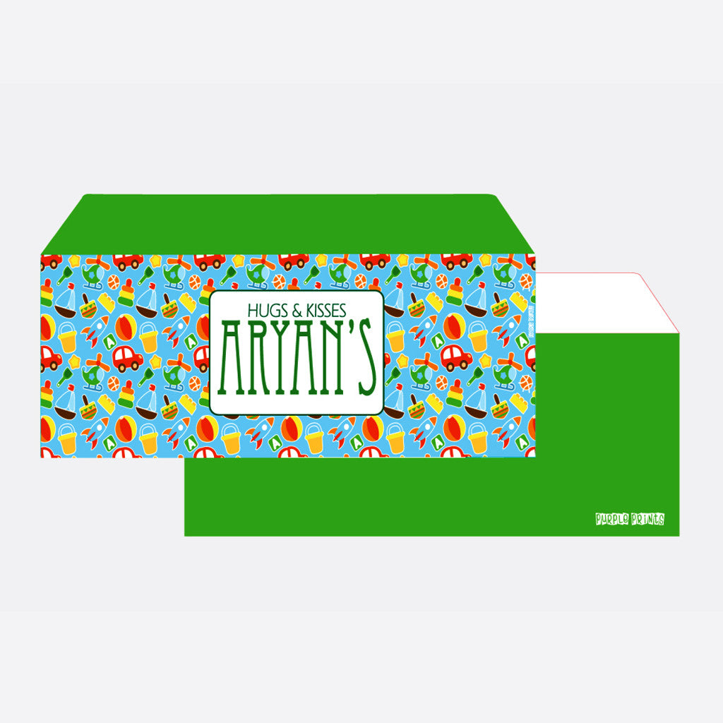 Personalised Envelopes - Toy, Set of 24