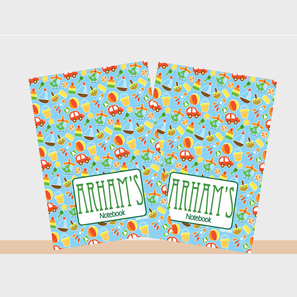 Personalised Notebooks - Toy, Set of 2
