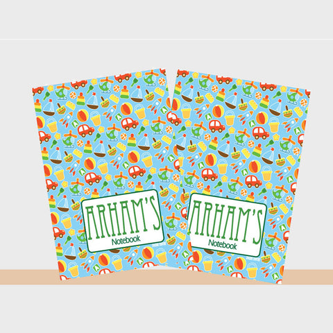 Notebooks, Set of 2<br/>Toy Theme