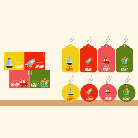 Personalised Gift Tag Set - Toy, Set of 80