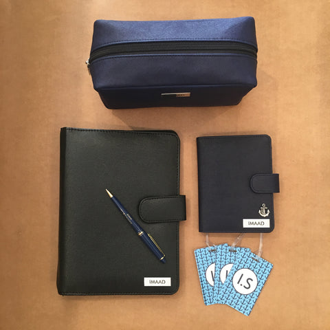 Personalised Travel Set & Diary (Includes Pouch, Passport Holder, Luggage Tags & Diary) <br> More colors available