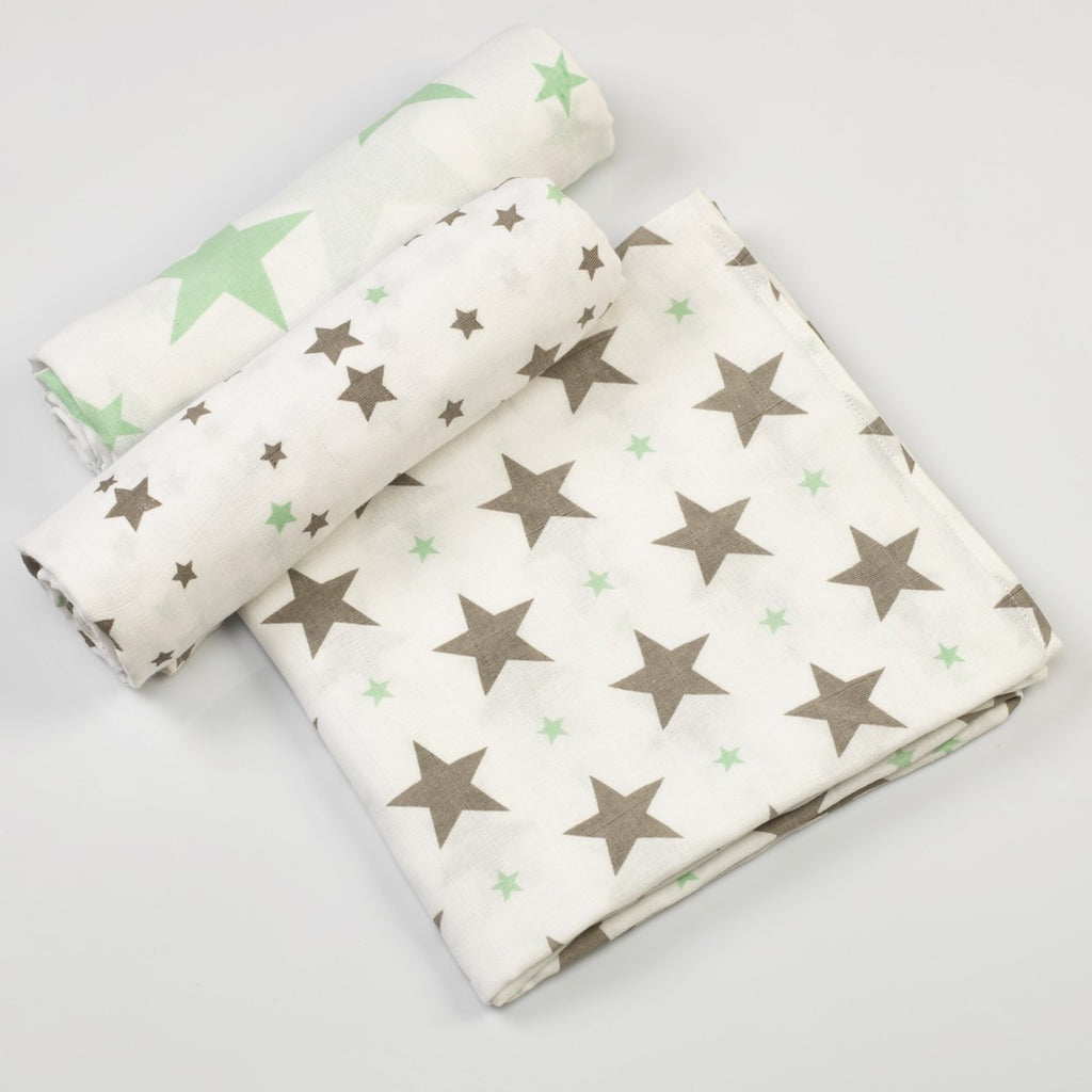 Twinkle Twinkle Muslin Swaddle Cloths <br> Set of 3