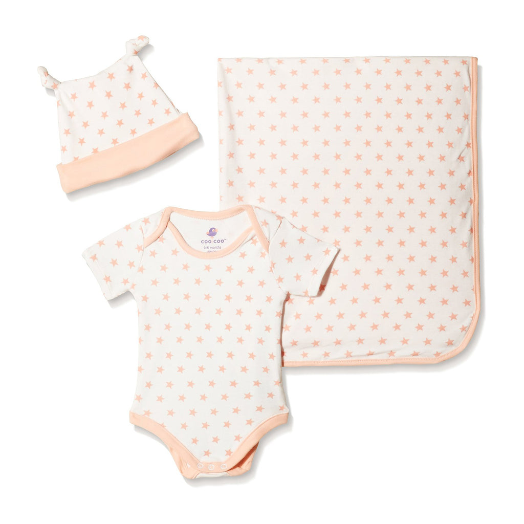 Coral Star Newborn Set
