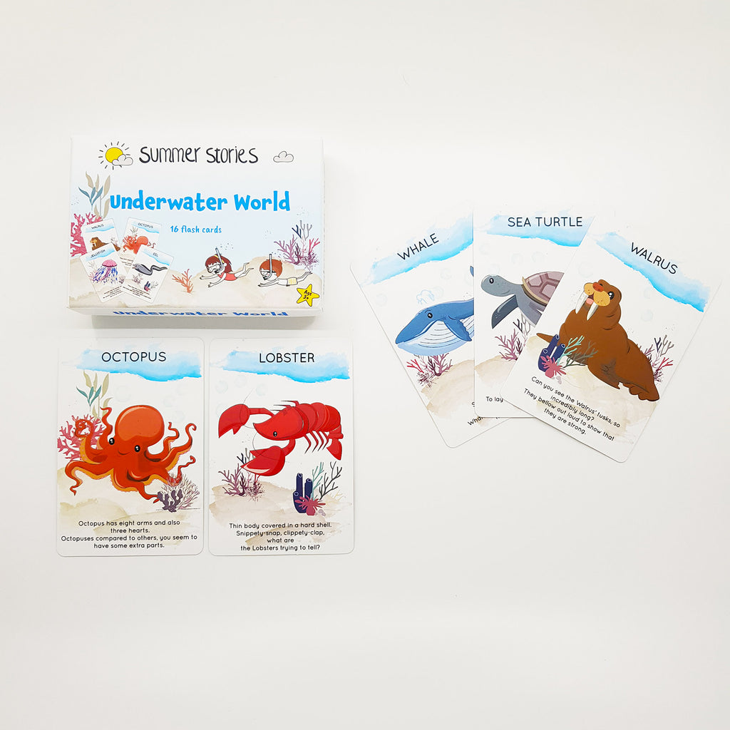 Summer Stories - Underwater Creatures Flash Cards