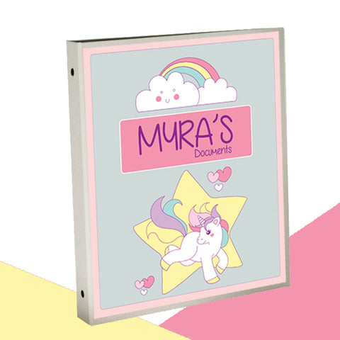 Personalised Binder - Unicorn