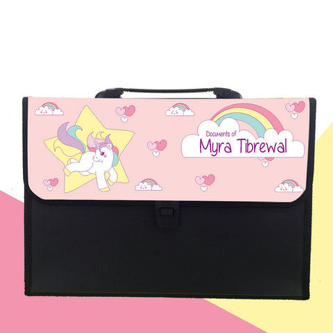 Personalised Folder - Unicorn