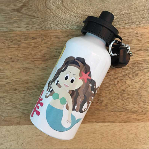 Personalised Water Bottle<br/>Mermaid