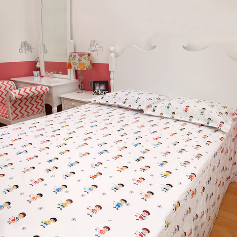 Bedsheet Set - Worldcup, Single/Double Bed Sizes Available