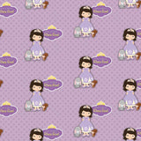 "Personalised Wrapping Paper 14 x 22""  - Purple Princess, Set of 50"