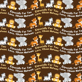 "Personalised Wrapping Paper 14 x 22"" - Animals, Set of 50"