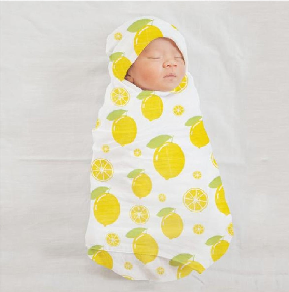 Organic Muslin Swaddle - Zesty Lemon