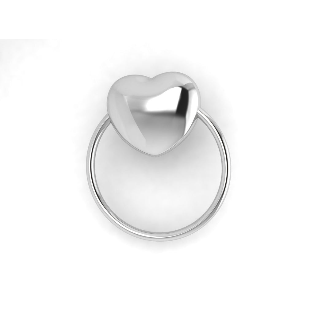 Sterling Silver Rattle & Teether - Heart Ring