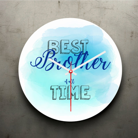 Best Brother Of All Time Clock