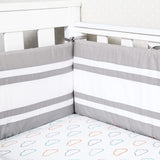 Nursery Basics - Grey Cot Bumper