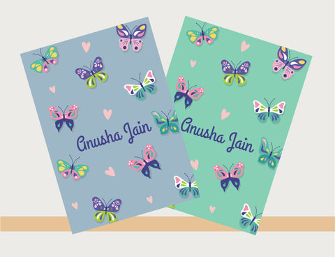 Personalised Notebooks - Butterfly, Set of 2