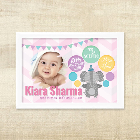 Birth Memory Frame - Elle