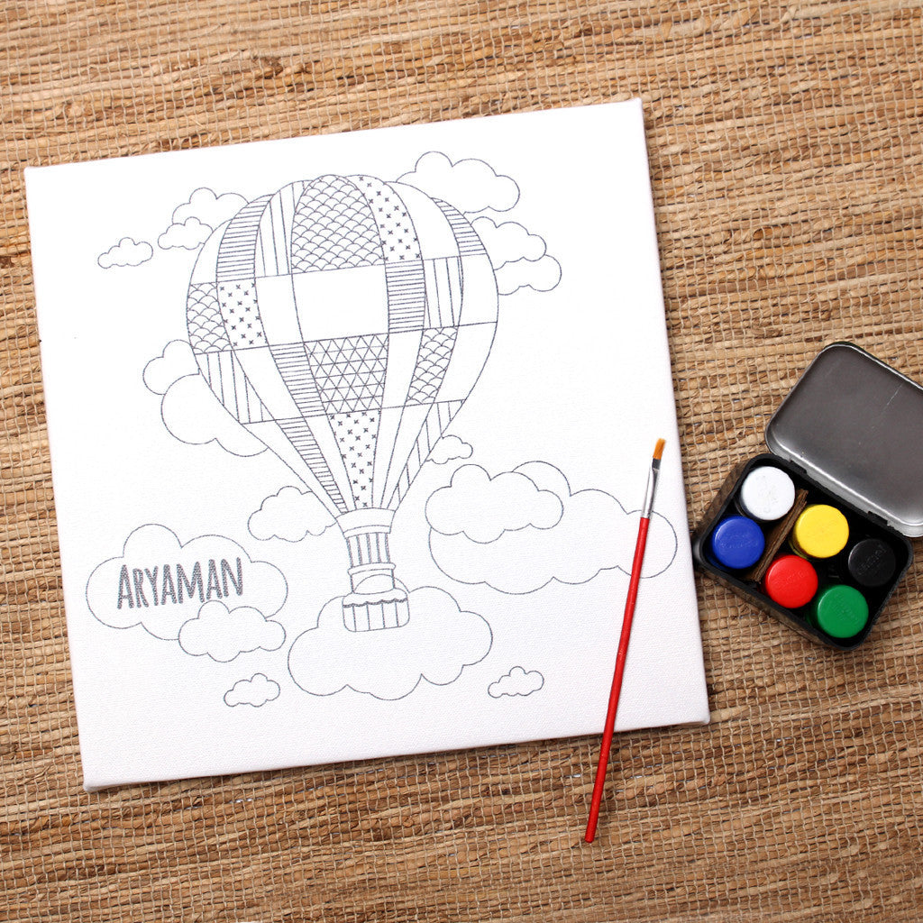 Your First Canvas Art Kit- Hot Air Balloon