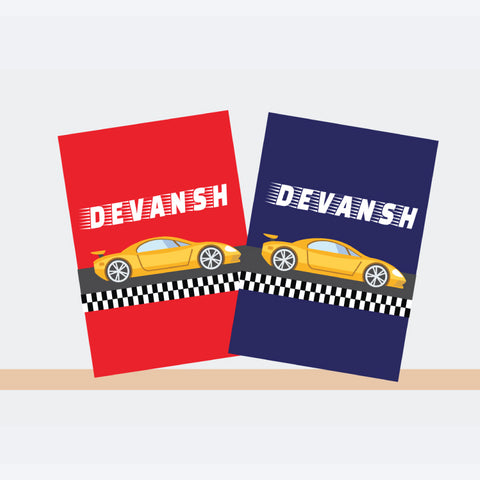 Personalised Notebooks - Racer Car, Set of 2