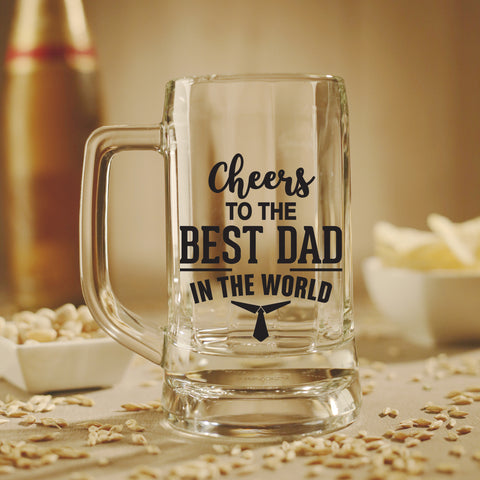 Beer Mug - Cheers To The Best Dad