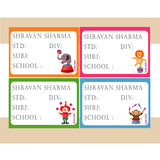 Personalised School Book Labels - Circus, Pack of 36