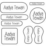 Clear Name Labels Set 3, Set of 94 Labels