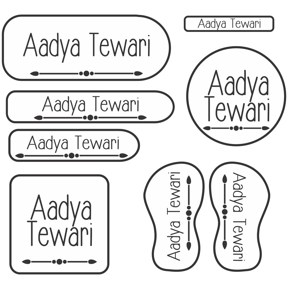 Clear Name Labels Set 2, Set of 94 Labels