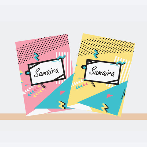 Personalised Notebooks - Colour Pop, Set of 2