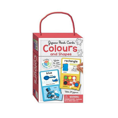 "Jigsaw Flash Cards: Colours & Shapes<br> <span style=""font-size: 11px; font-family:Helvetica,Arial,sans-serif;"">With 24 Jigsaws</span>"