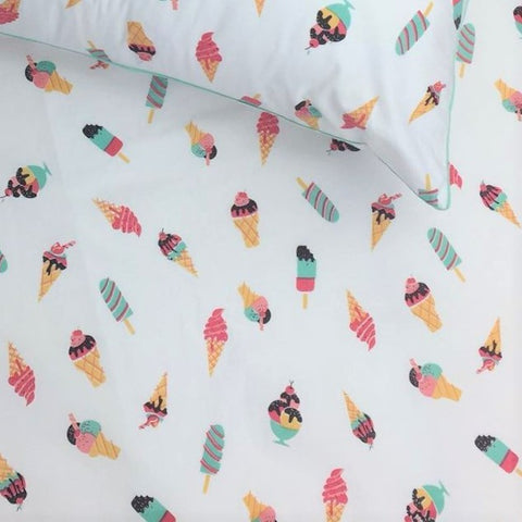 Fitted Cot Sheet - Ice Cream