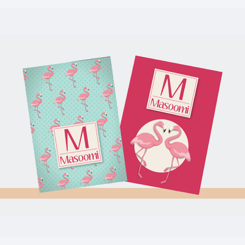 Personalised Notebooks - Flamingo, Set of 2