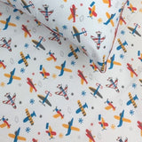 Bedsheet Set - Airplanes - Single/Double Bed Sizes Available