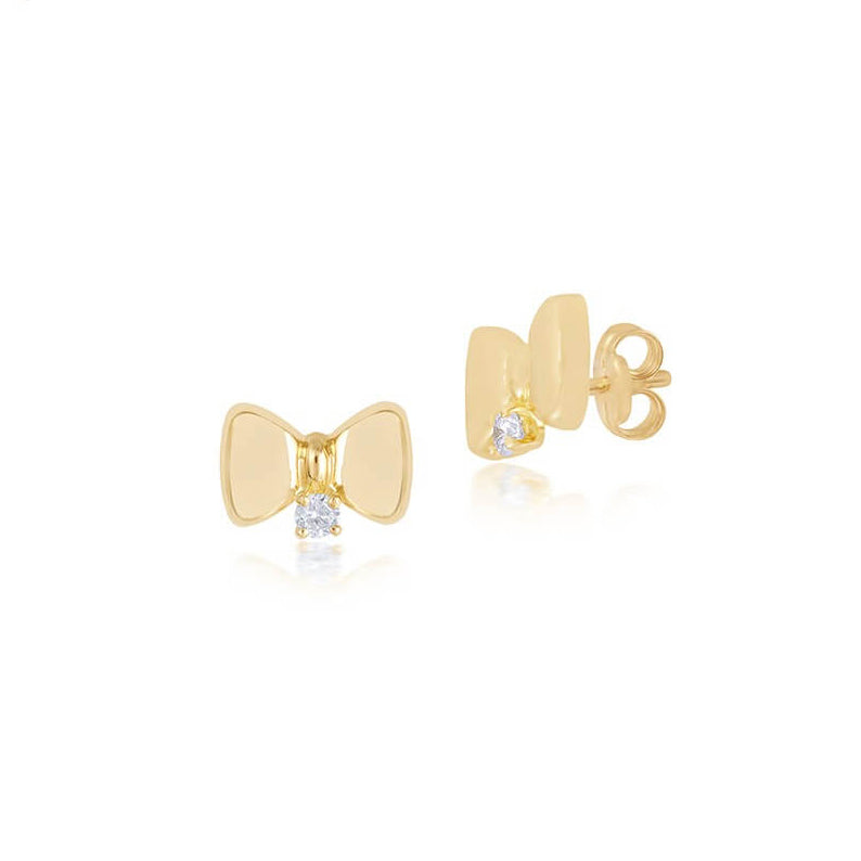 18K Gold Bows & Diamond Earrings, Bows & Tiers Collection
