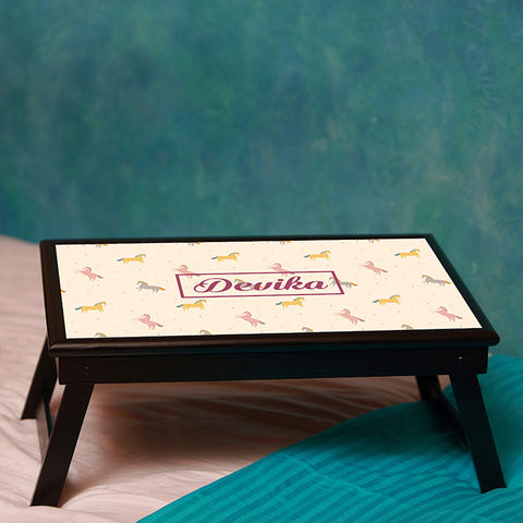 Personalised Bed table - Horses