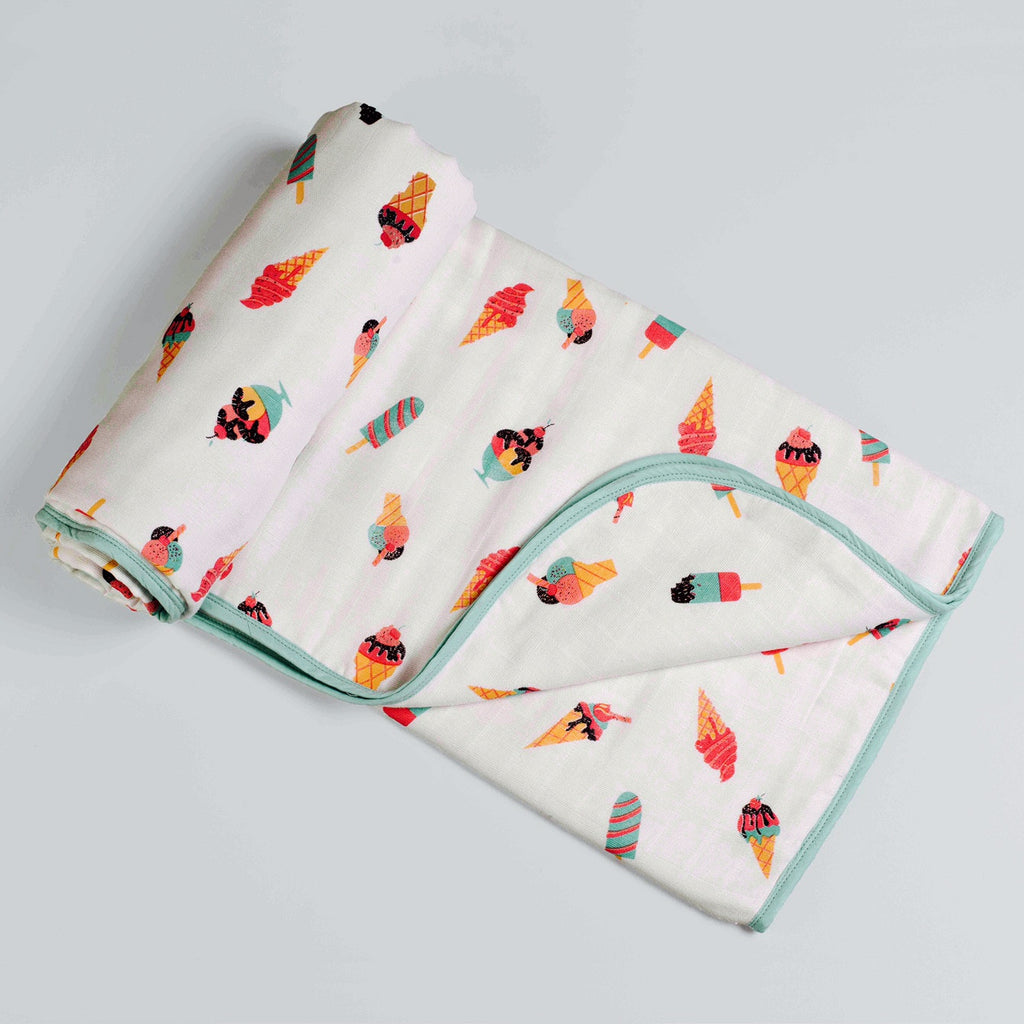 Scoops & Smiles Muslin Cozy Blanket