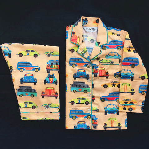 Kid's Pyjama Set - Transport