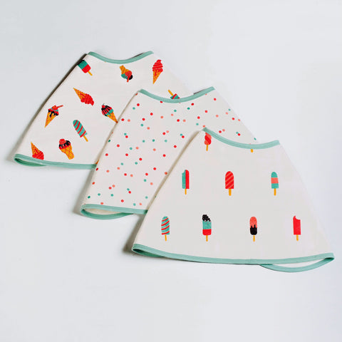 Scoops & Smiles Muslin Burp Cloths <br> Set of 3