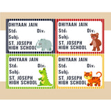 Personalised School Book Labels - Jungle, Pack of 36