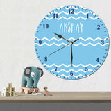 Personalise Clock, Blue