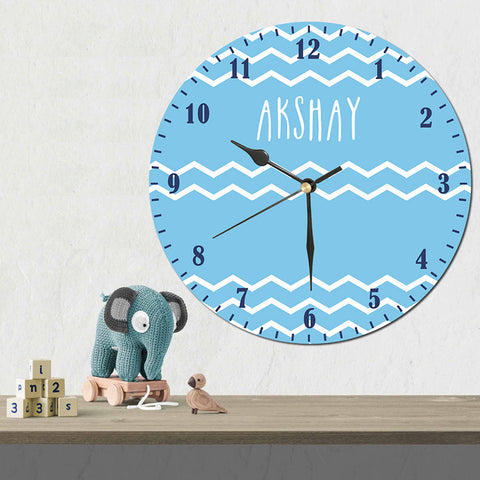 Personalised Wall Clock, Blue