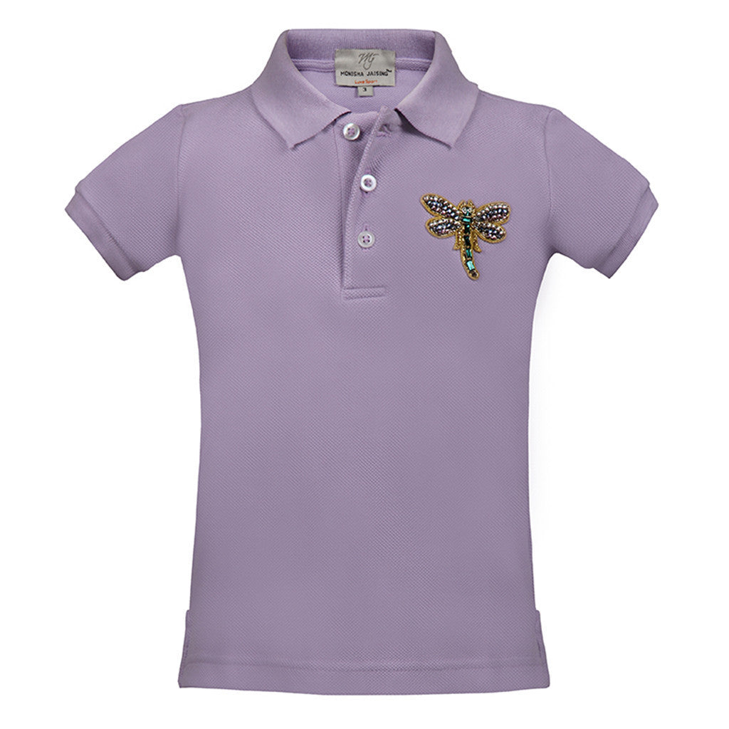 Short T-Shirt with Dragonfly