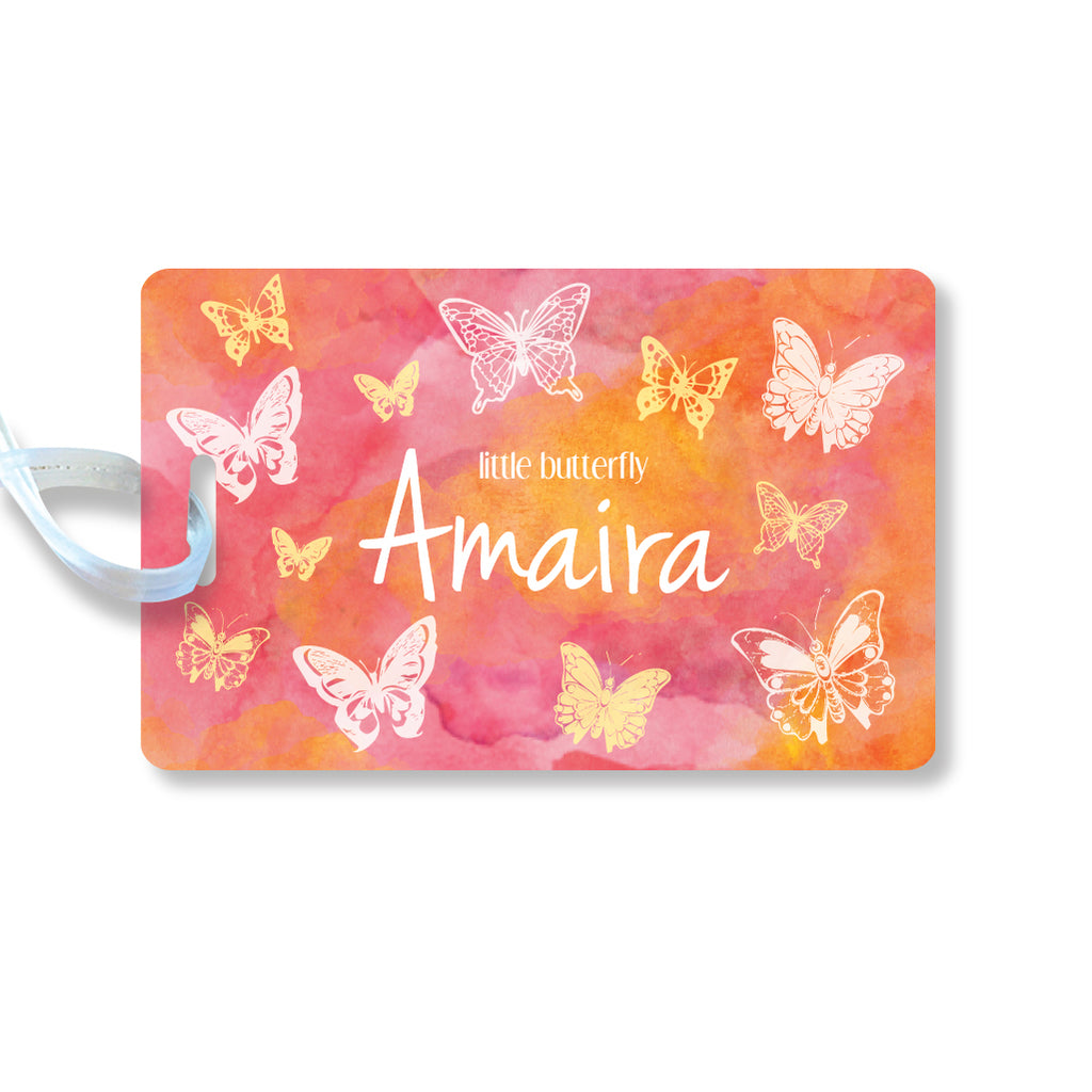 Luggage Tags - Butterfly, Set of 2