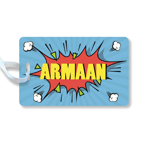 Luggage Tags - Pop art, Boy, Set of 2