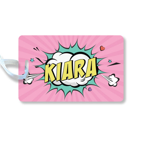 Luggage Tags - Pop art, Girl, Set of 2