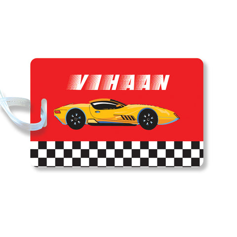 Luggage Tags - Racing car, Set of 2